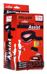 Deluxe Vibro Erection Assist Hollow Silicone Strap On
