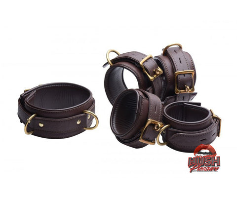 5 Piece Locking Leather Bondage Set
