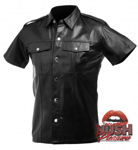 Lambskin Leather Police Shirt