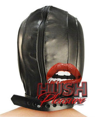 Leather Padded Hood with Mouth Hole