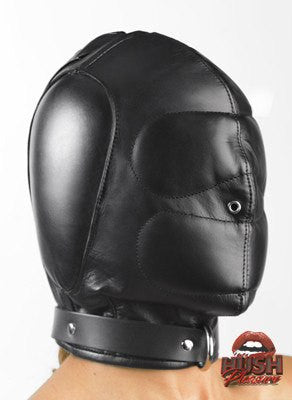 Padded Leather Hood