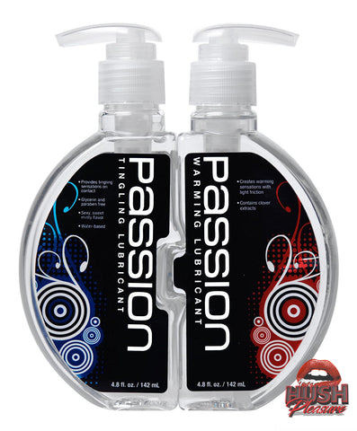 Passion Warming and Tingling Lube Combo - 9.6 ounce