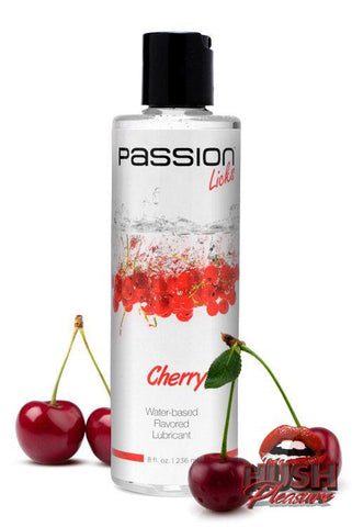 Passion Licks Cherry Water Based Flavored Lubricant - 8 oz