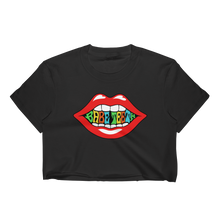 Babe Teeth Original Logo Front/Back Graphic Women's Crop Top