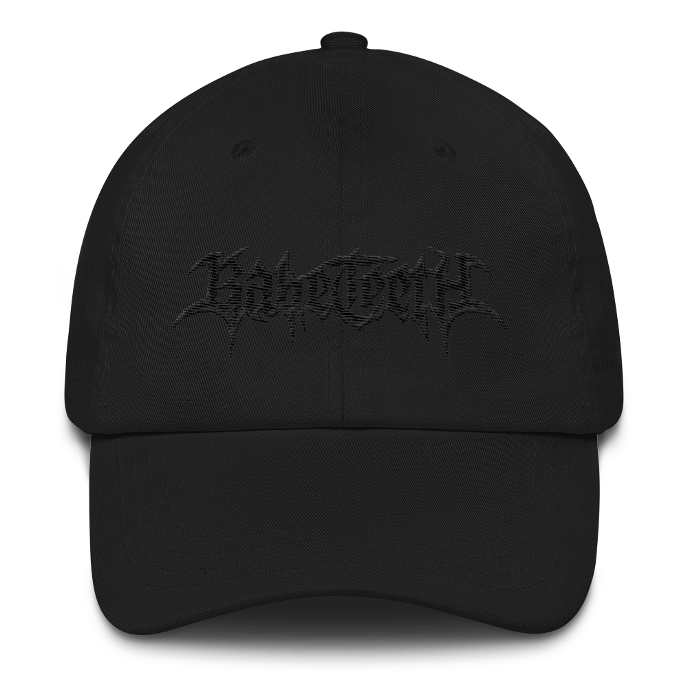 Babe Teeth Embroidered Black Thread Dad Hat (multiple colors)