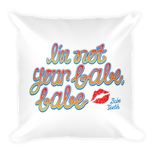 Babe Teeth Original Logo Front/Back Graphic Square Pillow