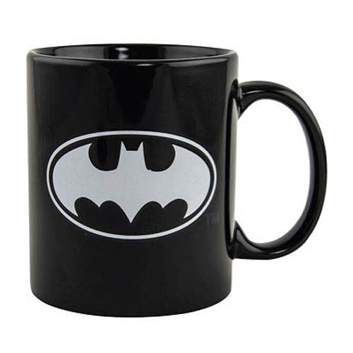 DC Comics Batman Glow-in-the-Dark Logo 10 oz. Ceramic Coffee Mug