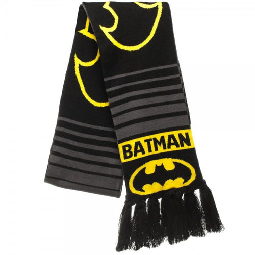 Batman Logo Jacquard Knit Winter Scarf