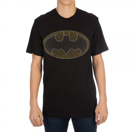 Batman Logo with Bat Women's Varsity V-Neck T-Shirt