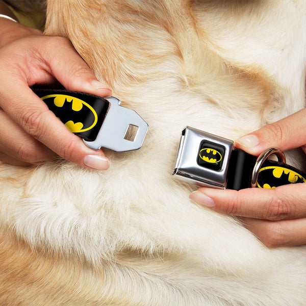 Batman Shield Black & Yellow Dog Collar