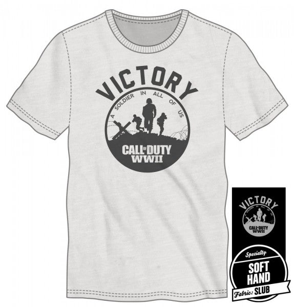 Call of Duty WWII Victory Soldier Men's White T-Shirt