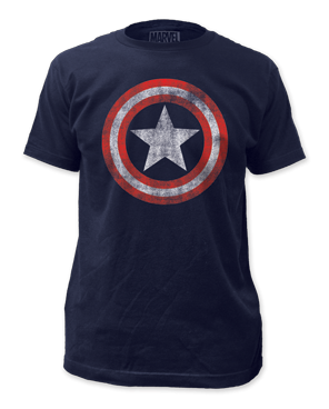 Marvel Captain America Distressed Logo Men's T-shirt