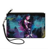 Dawn of Justice Wonder Woman Logo Pose Canvas Zipper Wallet