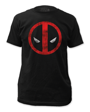 Marvel Deadpool Distressed Logo Men's T-shirt