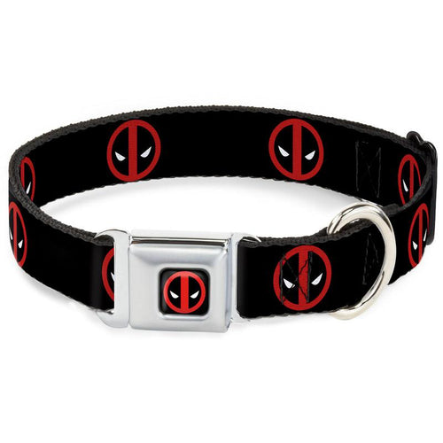 Deadpool Logo Black Dog Collar