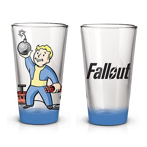 Fallout Vault Boy Pint Glass 16 Ounce