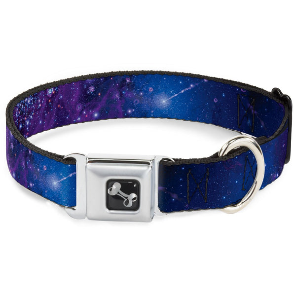 Galaxy Blue & Purple Dog Collar