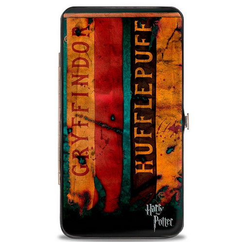 Harry Potter 4-Hogwarts House Banners Hinged Wallet