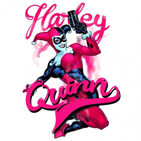 Harley Quinn Classic Comic Pose Womens Fitted Tank Top