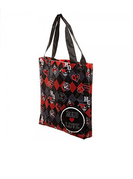 Harley Quinn Mad Love Packable Tote Bag