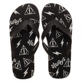 Harry Potter Deathly Hallows Flip Flops