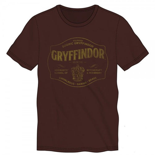 Harry Potter Gryffindor Burgundy T-Shirt