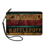 Harry Potter Hogwarts House Banners Canvas Zipped Wallet