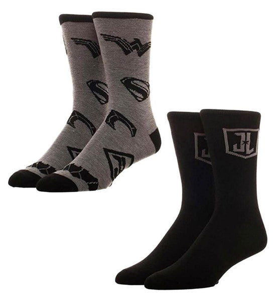 Justice League 2 Pack Crew Socks