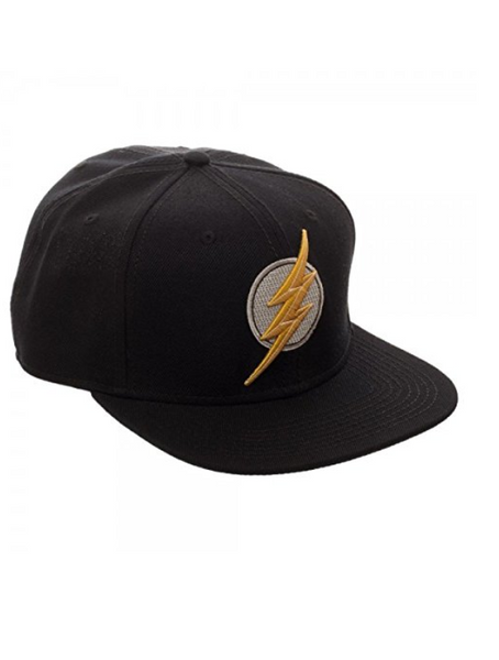 Justice League Movie Flash Icon Embroidered Snapback Cap