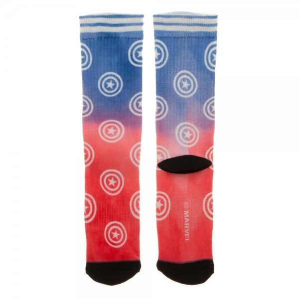 Marvel Captain America Ombre Crew Socks