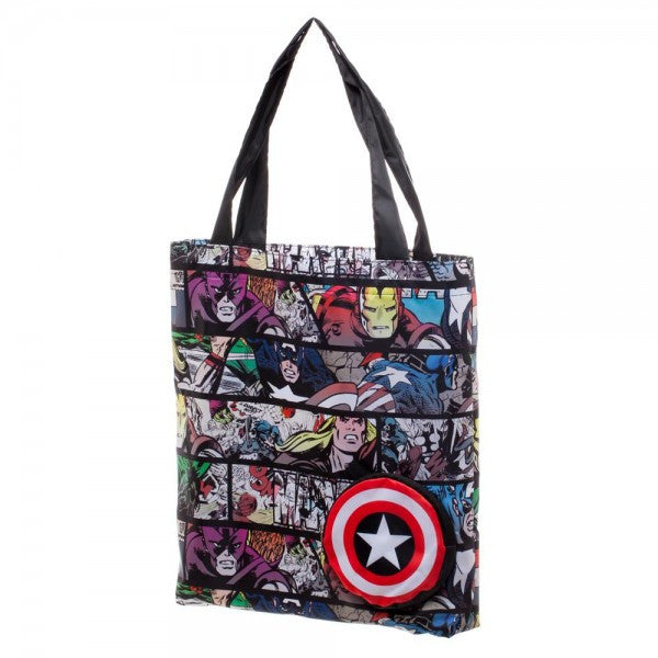 Marvel Comic Print Packable Tote