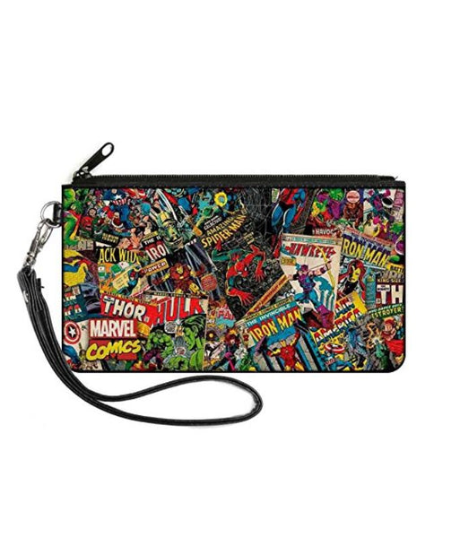 Marvel Comics Retro Comic Books Small Canvas Zipper Wallet