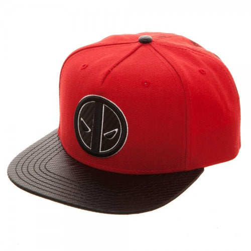 Marvel Deadpool Carbon Fiber Snapback Cap