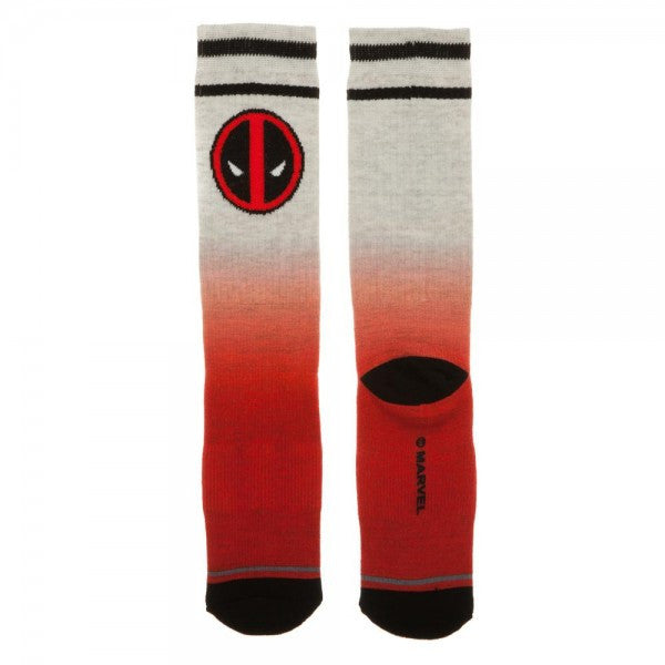 Marvel Deadpool Ombre Crew Socks