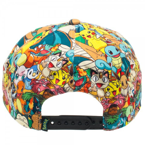 Pokemon All Over Print Sublimated Snapback Cap Hat
