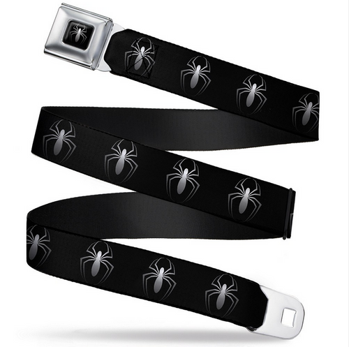 Spider-Man New Logo Black/White Seatbelt Belt