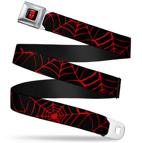 Harley Quinn Diamond Bat Logo Black/Red Seatbelt Belt