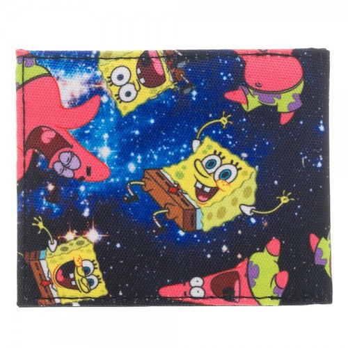 Sponge Bob Square Pants Space Sublimated Bi-Fold Wallet