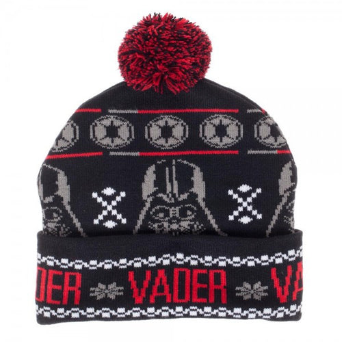Star Wars Darth Vader Fairisle Pom Beanie