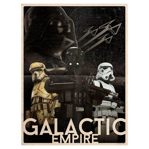 Star Wars Galactic Empire Limited Edition Lithograph Print by Louis Solis
