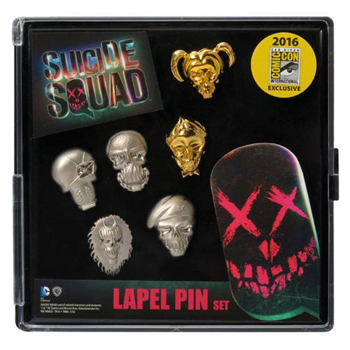 Suicide Squad Faces Pewter Pin 6-Pack - SDCC 2016 Exclusive