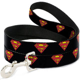 Superman Shield Black Dog Leash