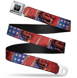Superman Shield Stars & Stripes Seatbelt Belt
