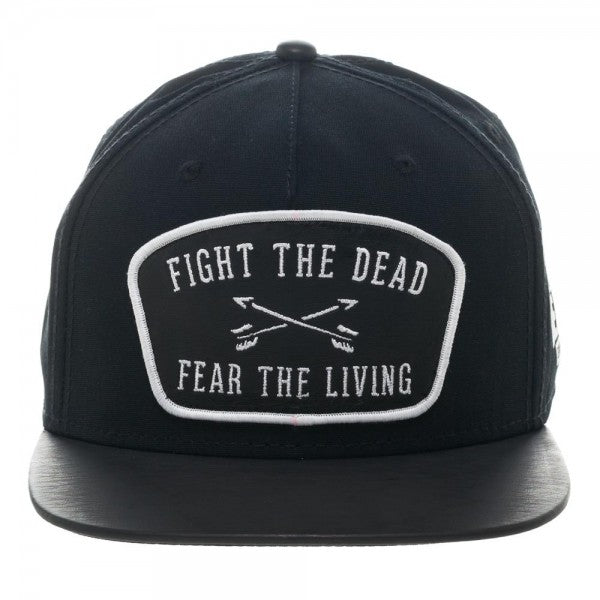 The Walking Dead Leather Patch Snapback Cap