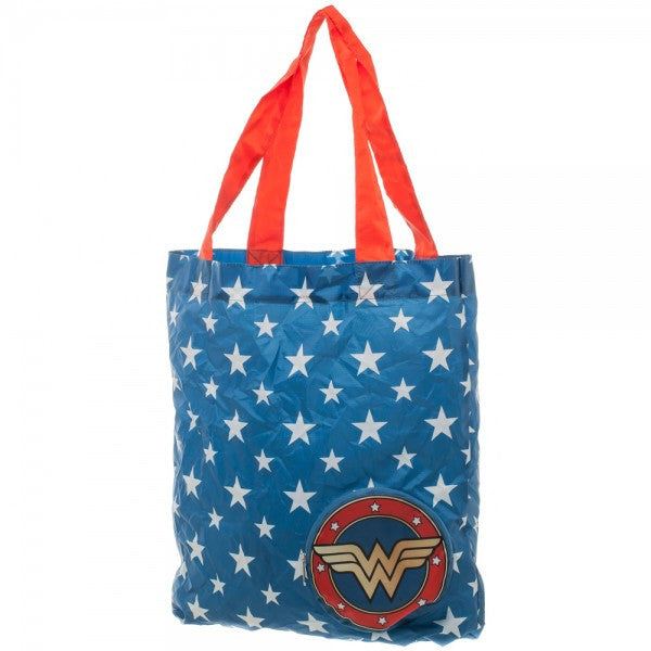Wonder Woman Blue Packable Tote Bag