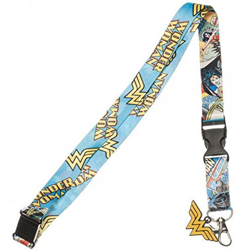 Wonder Woman Comic Logo Lanyard