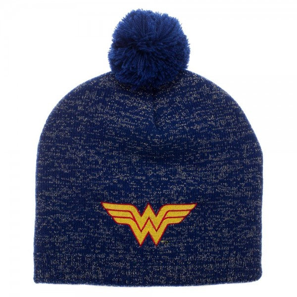 Wonder Woman Metallic Lurex Pom Beanie