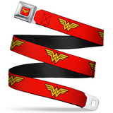 Wonder Woman Logo Full Color Red Seatbelt Belt