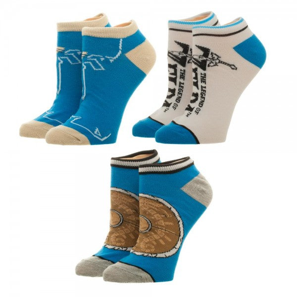 The Legend Of Zelda Breath of the Wild 3 Pack Ankle Socks