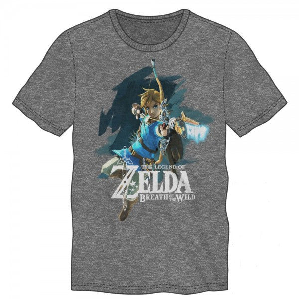 Zelda Breath of the Wild Link Grey Siro Mens T-Shirt